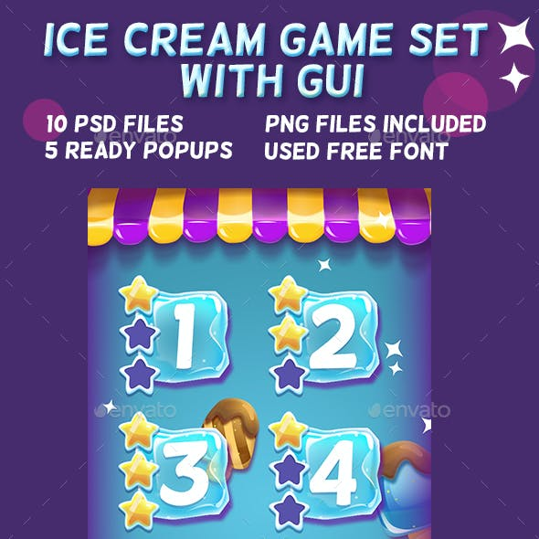 Ice Cream Game Set with UI