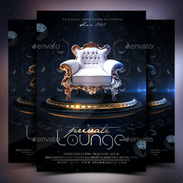 Luxury Vip Lounge Flyer