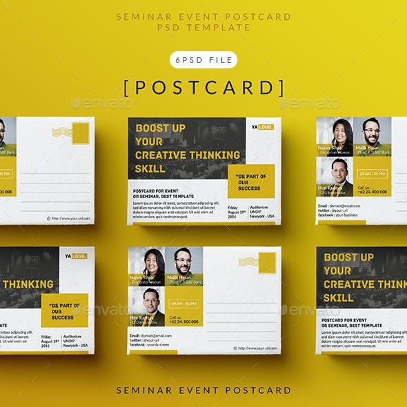 Seminar Event Postcard