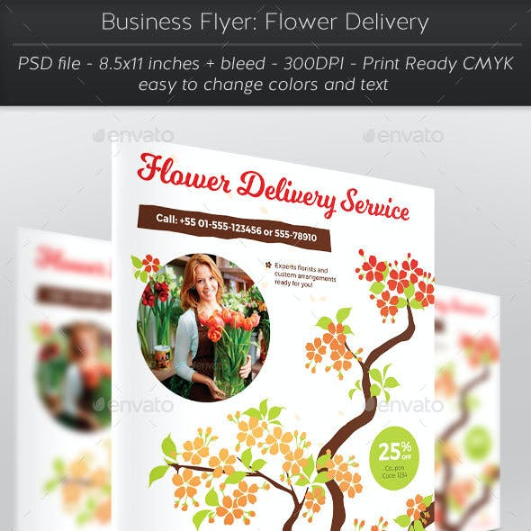 Business Flyer: Flower Delivery