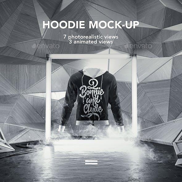 Man Hoodie Mock-up / Animated Mock-up