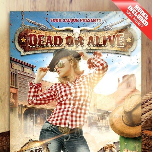 Dead or Alive Flyer
