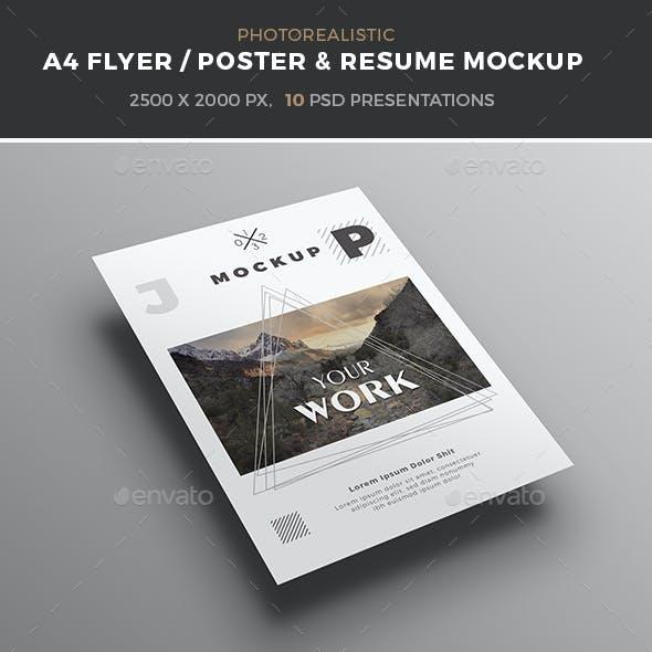 A4 poster / flyer mockup