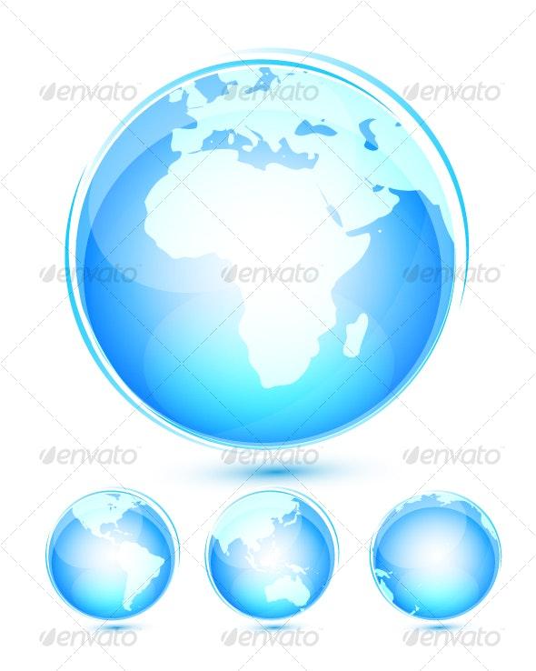 Earth icon set - Business Conceptual