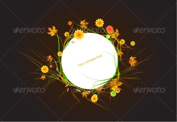 Autumn floral frame - Flowers & Plants Nature