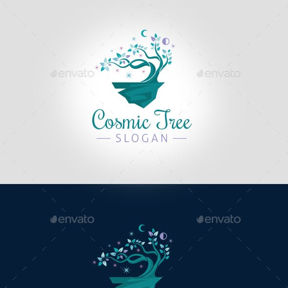 Cosmic Tree Logo Template