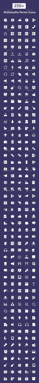 250+ Multimedia Vector Icons