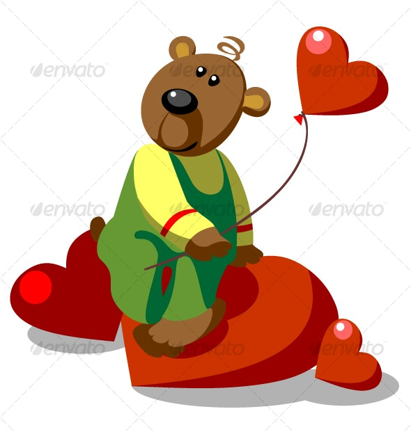 Bear ready love color 20 - Animals Characters