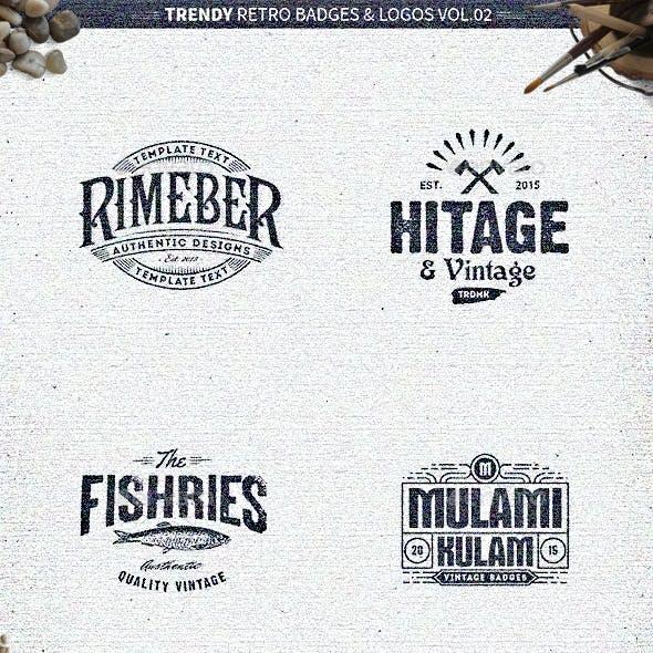18 Trendy Retro Badges and Logos Vol.02