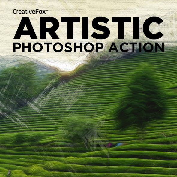 Artistic Photoshop Action - Oil Painting Action