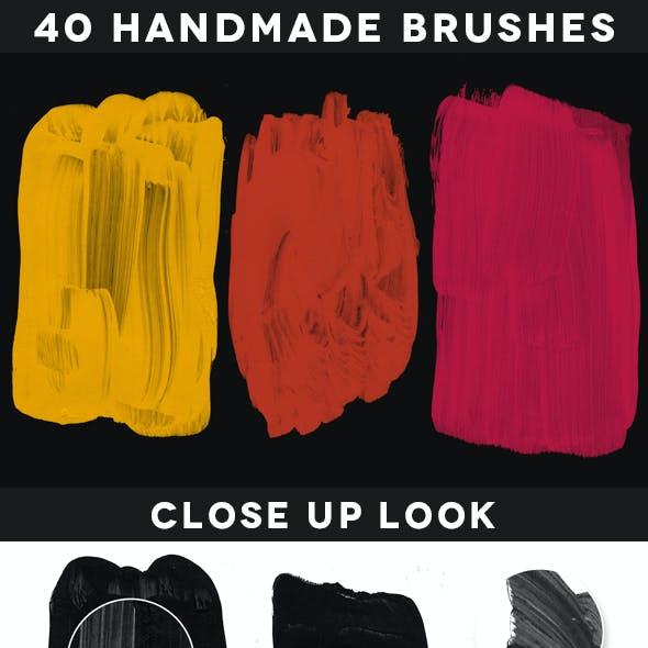 40 Handmade Acrylic Brushes