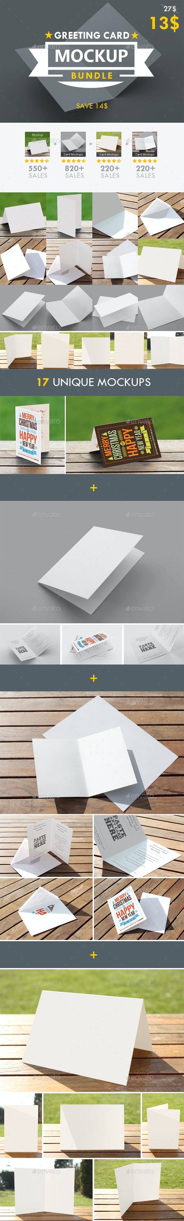 Greeting Card Mockup Bundle - Miscellaneous Print