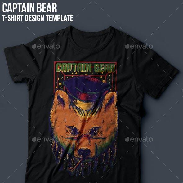 Captain Bear T-Shirt Design