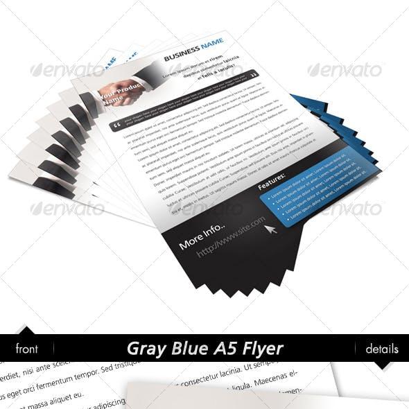 Gray Blue A5 Flyer