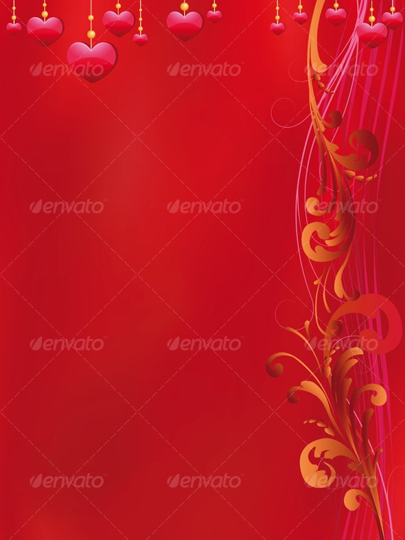 Frame for St. Valentine's day - Patterns Decorative