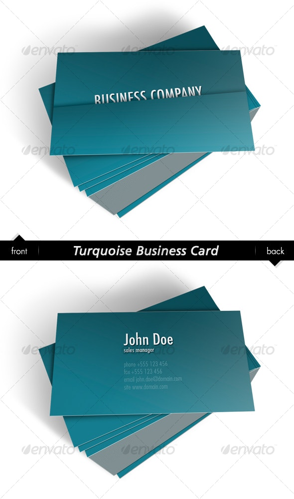 Turquoise Business Card - Creative Business Cards