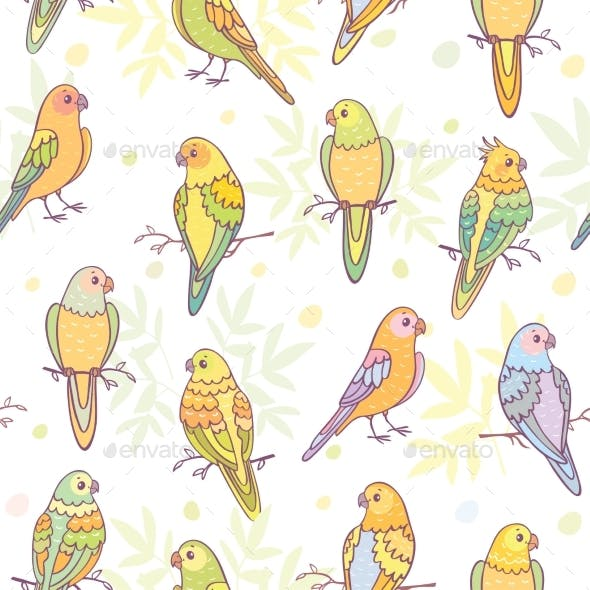 Parrots Seamless Pattern