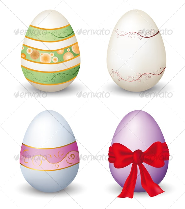 Collection of easter eggs - Decorative Symbols Decorative