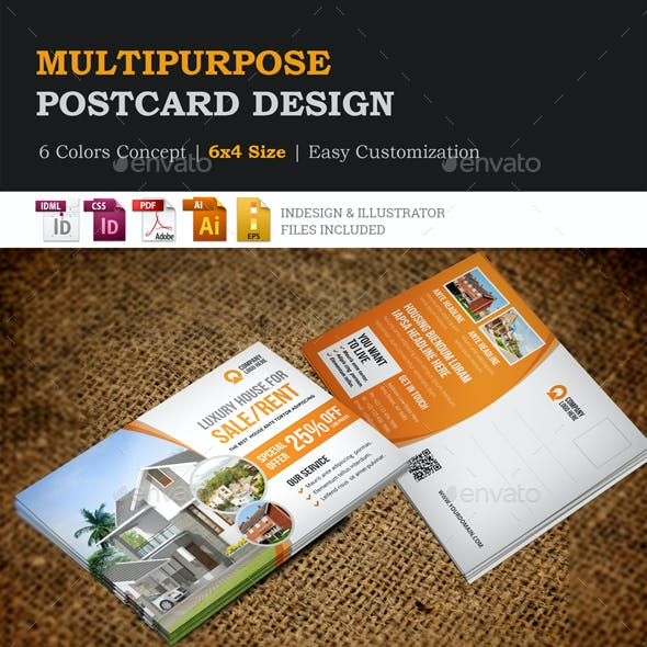 Multipurpose Postcard Design