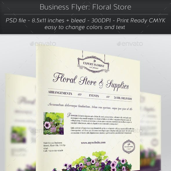 Business Flyer: Floral Store