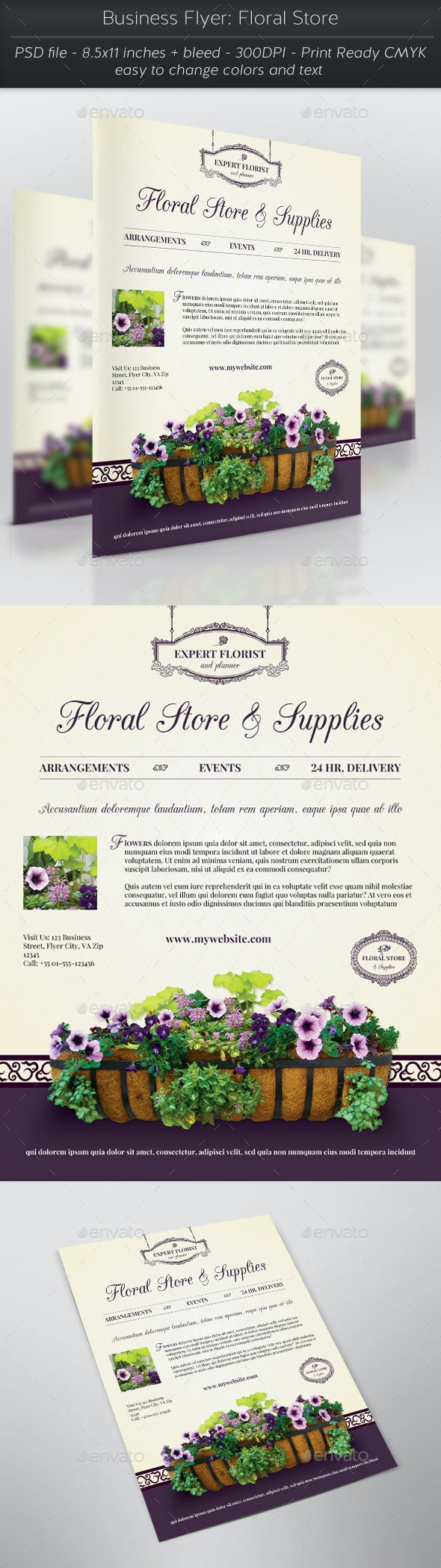Business Flyer: Floral Store - Flyers Print Templates