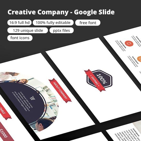 Creative Company - Google Slide