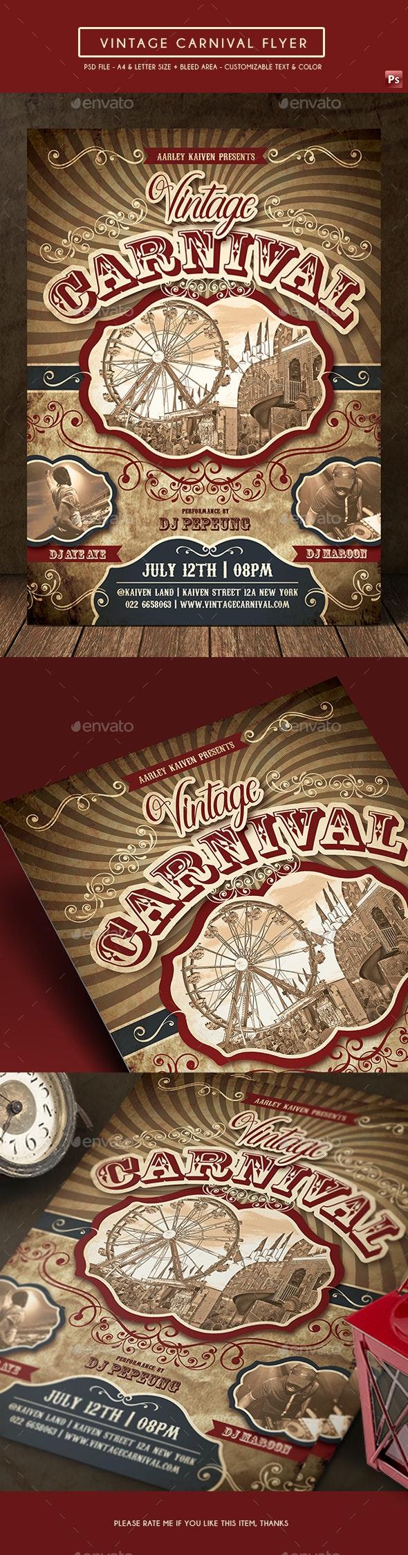 Vintage Carnival Flyer - Events Flyers