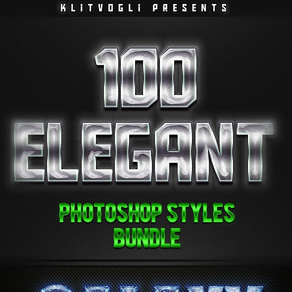 100 Elegant Photoshop Styles Bundle