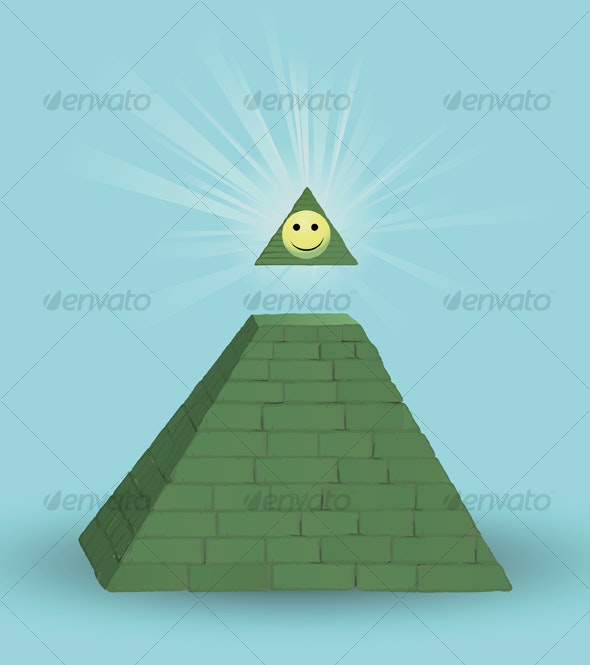 Pyramid and smilie - Concepts Business