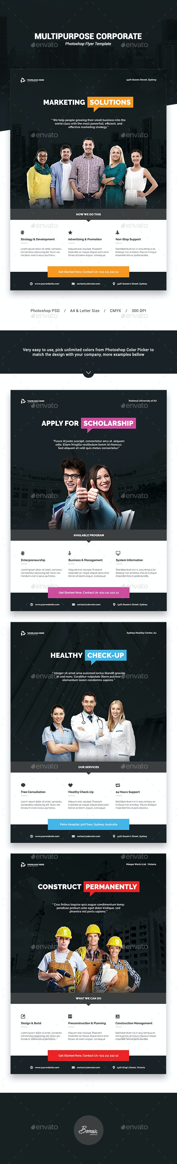 Multipurpose Corporate Flyer Template - Corporate Flyers