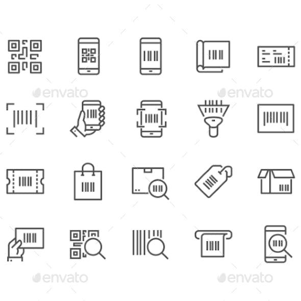 Line QR Code Icons