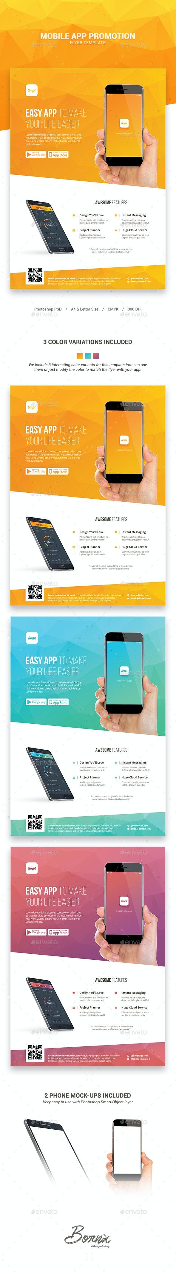 Mobile App Promotion Flyer Template - Commerce Flyers