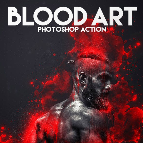 Blood Art Photoshop Action
