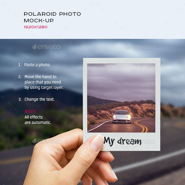 Polaroid Photo Mock-up