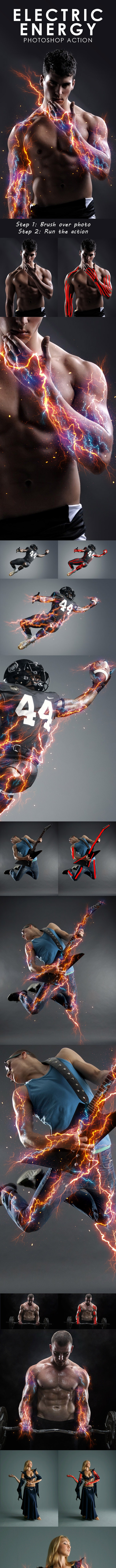 Electric Energy Photoshop Action - Photo Effects Actions