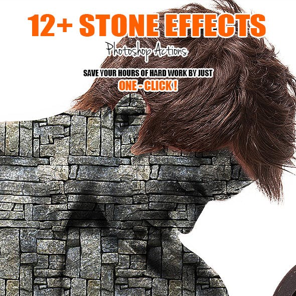 12+ Stone Effects - Photoshop Actions