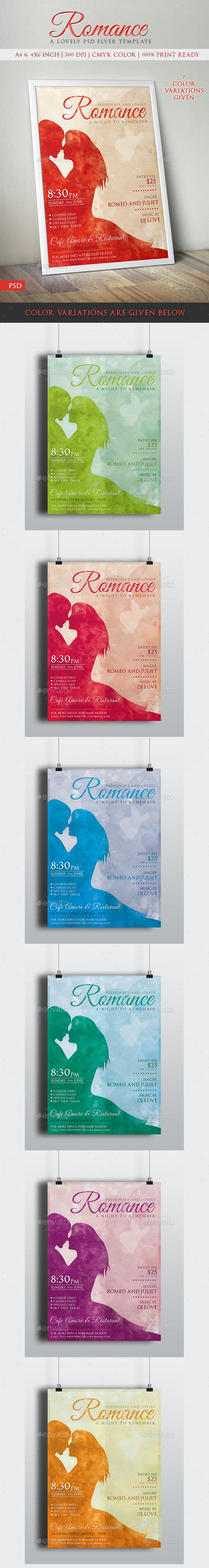 Romance Love Couples Party Invitation Poster/Flyer  - Clubs & Parties Events