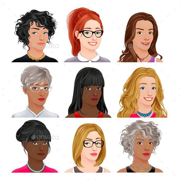 Different Female Avatars