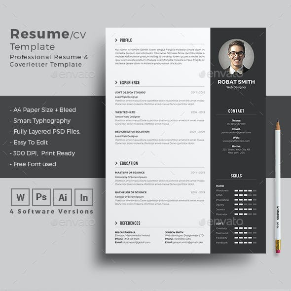Resume InDesign Stationery And Design Templates
