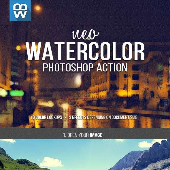 Neo Watercolor Photoshop Action