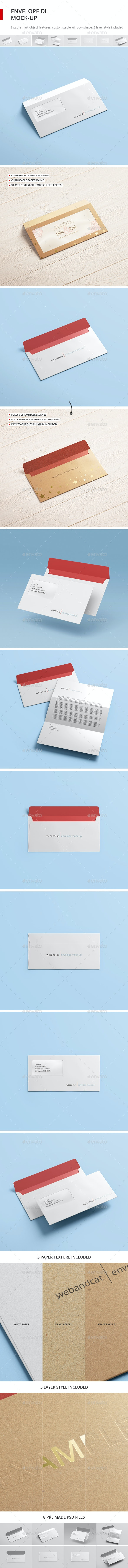 Envelope DL Mock-up - Stationery Print