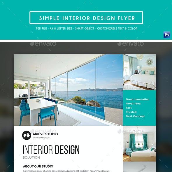 Simple Interior Design Flyer