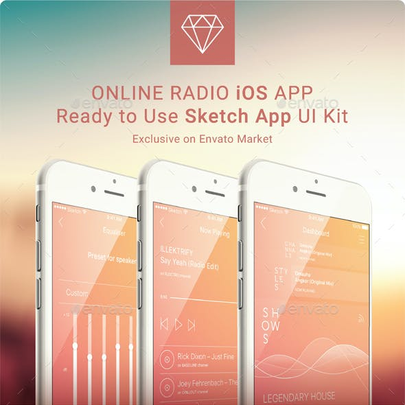 Complete Online Radio Application Inspired by iOS9