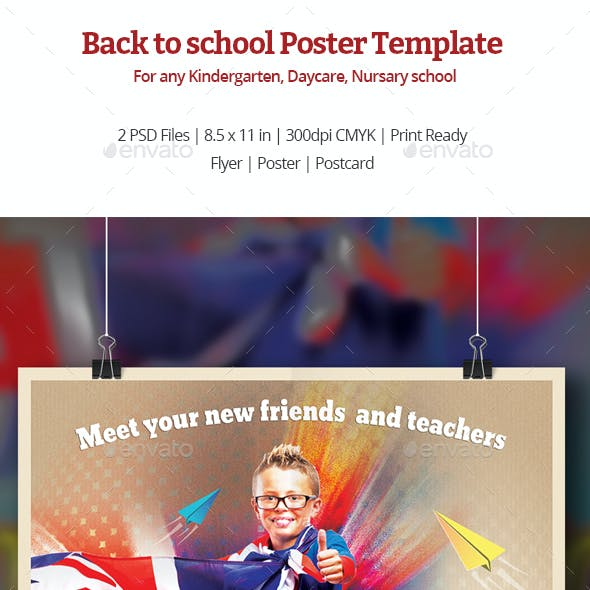 Back to School Poster Templates