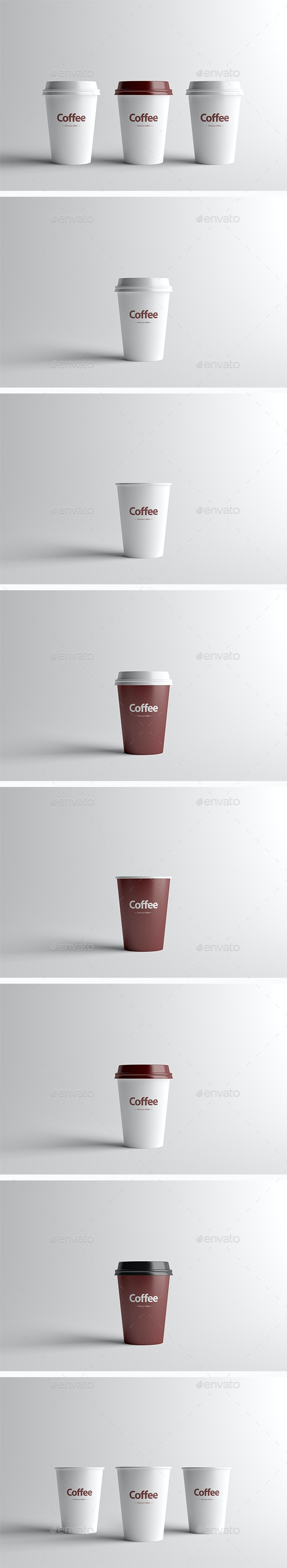 Paper Coffee Cup Packaging Mock-Up - Small - Food and Drink Packaging