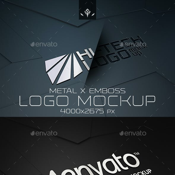 Hi-Tech Metal and Emboss Logo Mockup
