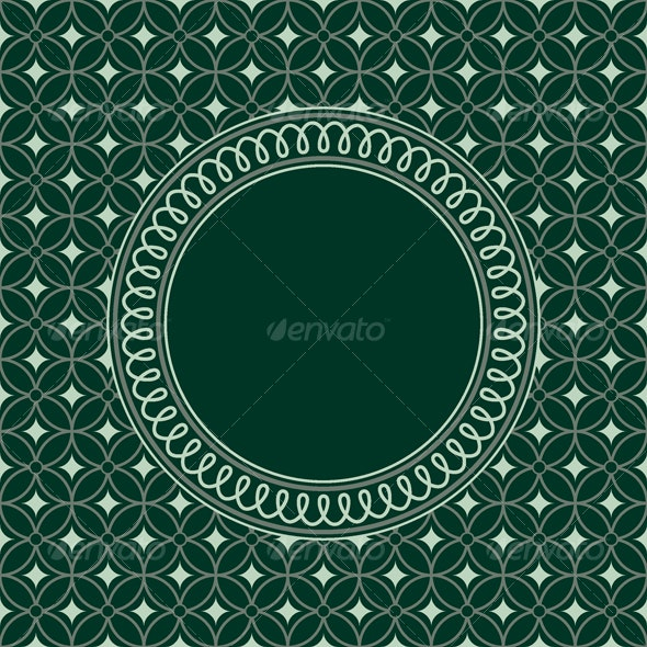 seamless pattern with round frame - Backgrounds Decorative