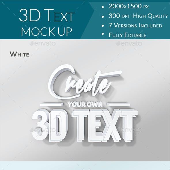 Realistic 3D Text Mockups V2