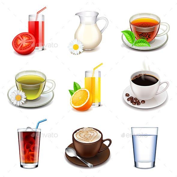 Non-Alcoholic Icons Set