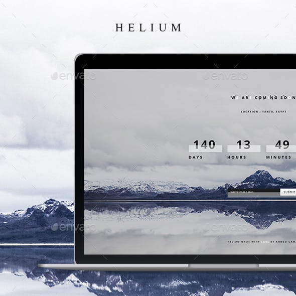 Helium - Coming Soon PSD Template
